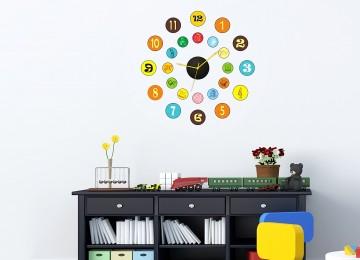 Дизайнерские настенные часы для детской